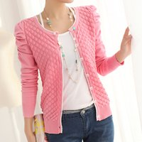 Wholesale 2014 spring and autumn women s puff sleeve cardigan outerwear top women fashion Jacket beautiful Cardigans for sweater S M L XL