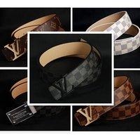 Wholesale belt blue red big large buckles g belts wholesalers new hip brand designer belts for men women genuine leather gold cinto belt Men s