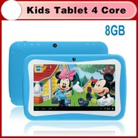 Wholesale Kids Education Tablet PC inch RK3126 quad core Android Bluetooth MB RAM GB ROM Kids Games Apps mini tablet PB7 D3
