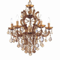 Wholesale 4004 Golden Teak Maria Theresa Light Chandelier Antique Brass or Polished Chrome or Gold