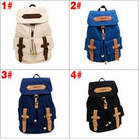 Wholesale 100 Brand New Korea Vintage Canvas Backpack Girl Women Shoulder School Satchel Bag Rucksack Colors