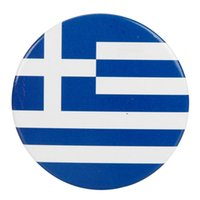 Wholesale Greece Flag Badge Graphic CM With Eye Catching Color Iron Material Ship From USA