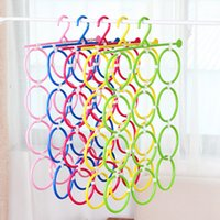 Wholesale 34 cm g Plastic Home Bathroom Living Room Ring Colorful Scarves Belts Underwear Bra Hanger Scarf Rack Clothes Pegs