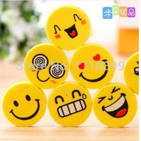 Wholesale 10pcs Smile face Eraser for kids funny stationery cute eraser rubber Office accessories school supplies material escolar