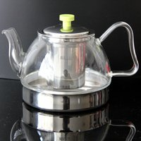 Wholesale Porcelana Top Fashion Sal ml Induction Cooker Directly Heated Glass Teapot Easy Use Tea Set for Make Flower And Coffee Solo Teapot