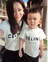 baby girl tees - Hot Baby Boys Girl Letter Print T shirt Family Dress Alikes Mother Daughter Son Tee Fashion Casual Soft White K5650