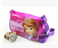 bag princesses - 2015 New Children Frozen Anna Elsa Sofia Princess Bags Kids Fashion Cartoon Shoulder Bag Messenger Bags Kids School Bag B3856