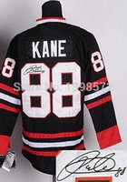 black cod - COD Patrick Kane classic Stadium Jersey stitched Chicago Kane newest White Black autographed hockey Jersey no tax