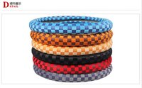 Wholesale 2015 New Style automobile steering wheel covers car Car steering wheel cover keep warm in winter warm velvet Grid model size M cm