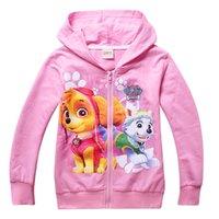 Wholesale 2016 Kids Clothing long sleeve paw hooded jacket spring hoodies sweatshirts
