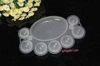 acrylic powder for nail care - pc Nail Art Care Palette Dappen Plastic Dish For Powder Polish Mixing Acrylic Paint Beauty Tool Frees hipping