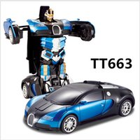 toys electric motor car - Best Quality Toys Super Hero For Kids Bugatti Deformation Remote Control Vehicles Fashion Car Xmas Gifts Super Fast Speeding LED Lights