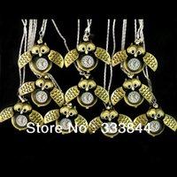 arinna necklace - Hot Top New Golden Color OWL Necklace Pocket Pendant Quartz Watches A1 order lt no track