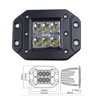 bar grille - 18w Grille LED off road work Light Bar Lamp for Tractor Off Road WD x4 Truck SUV ATV Spot Flood v v DP C018F