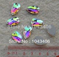 Wholesale free shipment AB color x18mm sew on rhinestones flatback crystal water Teardrop sewing crystal diy accessory supplies