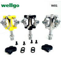 Wholesale Wellgo W01 WPD Road mountain mtb Aluminum alloy bike bicycle pedals foot s top ultralight shock bicycle pedal
