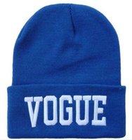 Prezzi Wool hat-200pcs donne Hip-Hop Hat VOGUE Skull Berretti cappelli lavorati a maglia cappello del crochet della protezione delle lane degli uomini della lettera Hat berretto da baseball cap hip hop Cappello da DHL