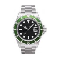 al por mayor bisel reloj de buceo-Los hombres suizos de lujo del reloj automático del Mens del envío libre miran el reloj mecánico verde del movimiento automático reloj de la zambullida de la fecha