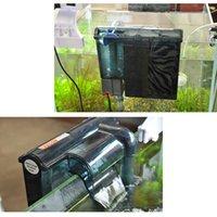 Wholesale Ultra Slim Aquarium Filter Pump External Aquarium Hang on Filters Waterfall Filter Fish Tank Marine Filtration V W L H