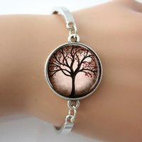 best life photo - Tree photo bracelet glass silver bangle tree of life new fashion women jewelry summer gift for best friends pc
