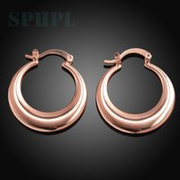 Cheap Free postage Best Rose Gold Earrings round shape