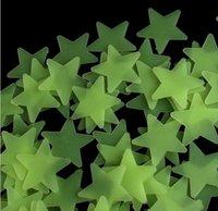 Wholesale 100pcs D Stars Glow In The Dark Luminous Fluorescent Plastic Wall Stickers Brand New Good Quality