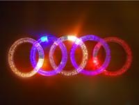 Wholesale LED bracelet light up flashing Glowing bracelet Blinking Crystal bracelet Party Disco Christmas Gift
