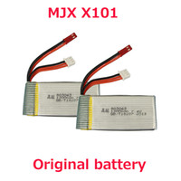 battery spare parts - 2Pcs Original MJX X101 Battery v mah Battery For MJX X101 Rc Quadcopter Spare part