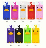 chicken run - Cute D Cartoon Chick Chicken Run Case Skin For Iphone I4S I5S G I5C Samsung S3 S4 I9300 I9400