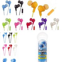 apple ipad mic - Gumy Gummy Earphone Earbuds mm Headphone HA FR6 Gumy Plus with MIC For Iphone Plus s c Ipad Samsung nano colors