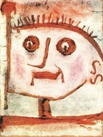 One Panel allegory art - Decorative Art abstract An allegory of propaganda Paul Klee oil painting Reproduction Canvas High quality Hand painted