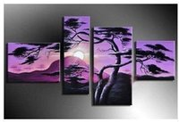 Cheap The rising sun MODERN HUGE CANVAS ABSTRACT ART OIL PAINTING(No Frame) 100% pure hand-painted