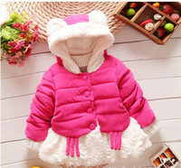 Wholesale Girls cotton padded clothes child cotton padded jacket new cotton candy color thicken with warm winter coat BH1279