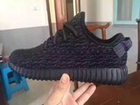 Adidas Originals Yeezy impulsionar 350 Pirata Preto Low Esporte Running Shoes Homens e Mulheres Calçados Shoes Formação Botas Aceitos (Com Origina Box)