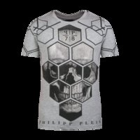 bianco white - 2016 Mens T Shirt Philipp Uomo Cotone Bianco Gray New with tags M L XL XXL