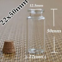Cheap 100pcs lot 10ml Wishing Glass Bottle with Cork, glass vials,display bottle, 55*50*22mm