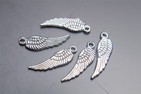 angels earrings - 1000pieces mm Angel Wing Pendant Charms Plated Silver DIY Jewelry Finding Making Charms Necklace infinity Bracelets Earring Accessory