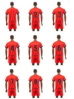 football set - Customized Season Away Orange Soccer Jersey With Short Soccer Sets Soccer Football Uniforms For Your Team