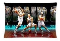 basketball twins - Famous Basketball Group Fashion Style Cotton Linen Decorative Suitbale Single Pillow Case Standard Size x75cm Twin Sides