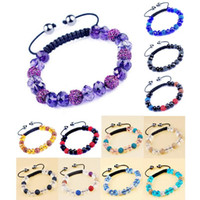 Wholesale Shamballa Crystal Bracelet SL04 Fashion Beaded Bracelets Newest Girls Bracelets Elegant Design Colors