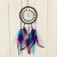 bamboo door beads - Feather Leather Bead Dream Catcher Door Ornament Hanging Decoration Gift cm