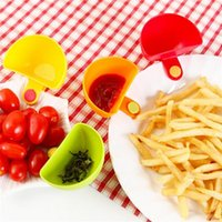 Wholesale set Tableware Creative Kitchen Multipurpose Clamp Meal Bowl Disc Seasoning Silicone Dishes Clip Spoon