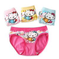 Wholesale 3 Y Girls underwear panties baby underwear shorts kids briefs hello kitty cartoon print briefs girl cotton panties