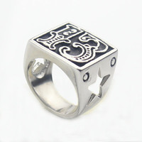 Band Rings asian motorcycles - Men s Lucky Silver Ring L Stainless Steel Biker Motorcycle Star Ring Cool