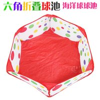 Wholesale kids play house Hexagon fold ball pool baby meter A meter ball pool does not contain the ball