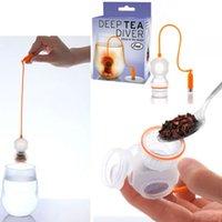 tea set - Deep Diver Infuser Loose Leaf Strainer Bag Mug Filter Friends Applied Tea holder set with gift box