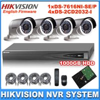 Wholesale Hikvision Kit CH NVR DS NI SE P POE NVR Ports PoE W MP P Camera DS CD2032 I with TB HDD IP camera system kit