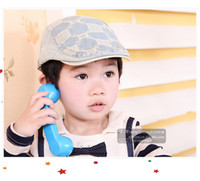 baby adjustment - 2015 Spring Autumn Hot Cool Fashion Children Ear Muff Jacquard Square Partten Jean Hats For Kids Metal Adjustment Buttons Baby Caps CR94