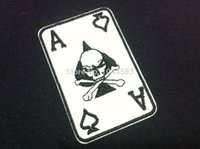 ace patches - Pieces Punk Ace Skull x cm Embroidered Applique Iron on Patch AL