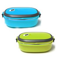 Wholesale New L Stainless steel Insulation Lunch Box Food Container Case With Handle